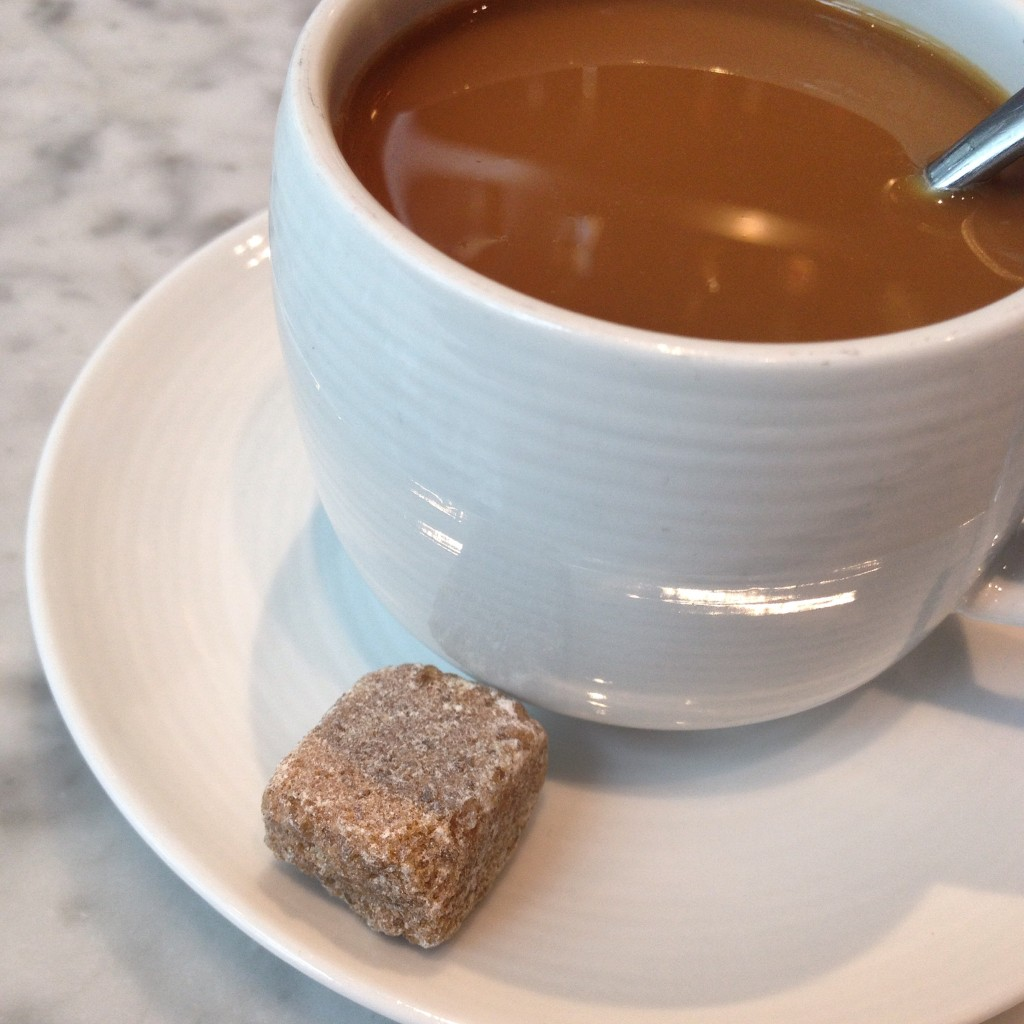 coffe and sugar cube