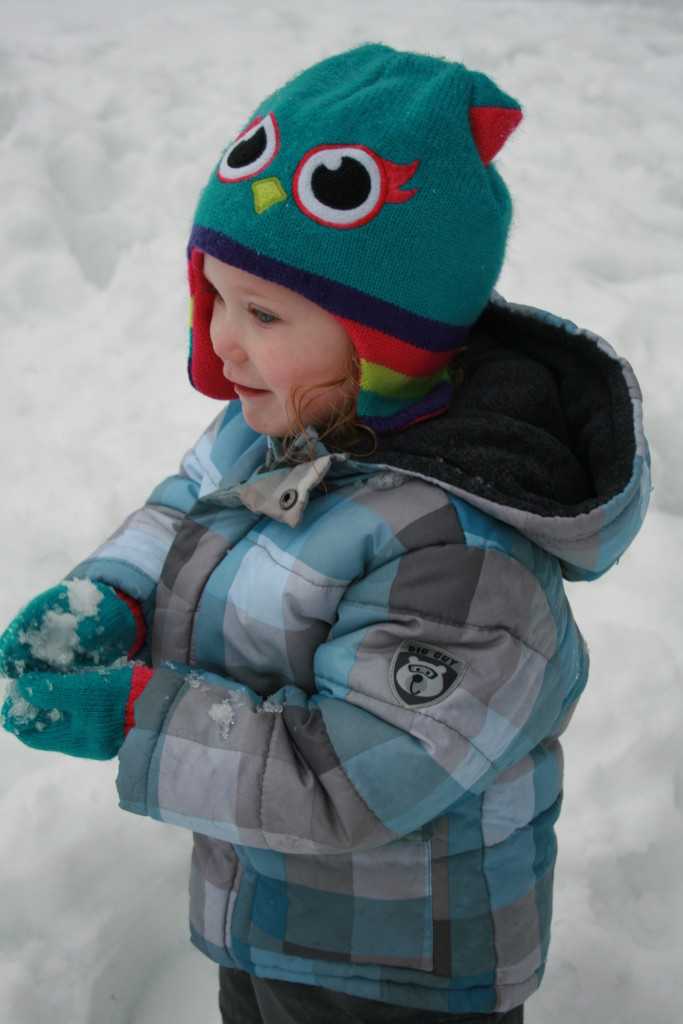 Snowy toddler